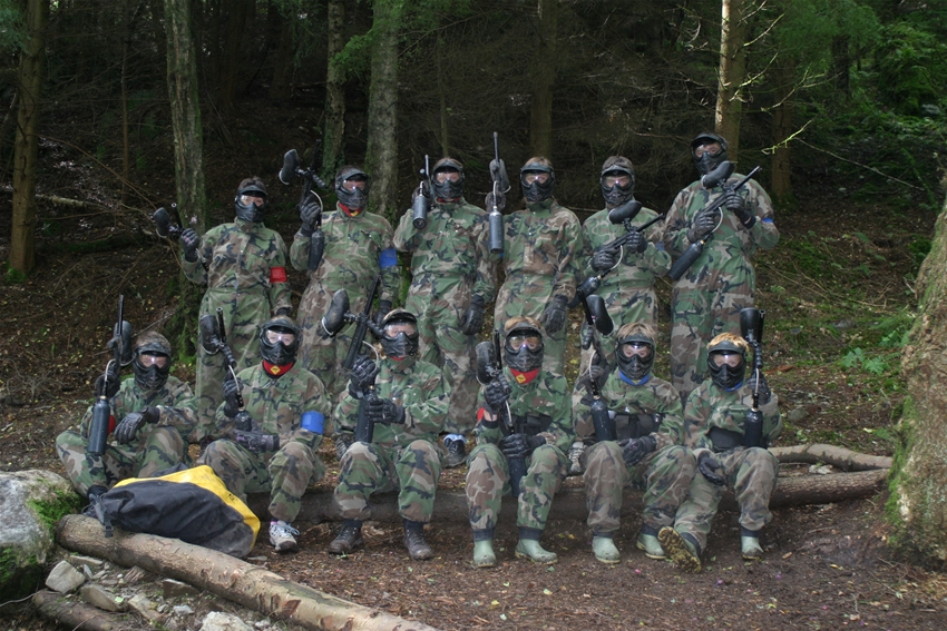 Paintballing session